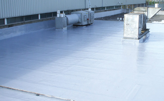 Liquid Waterproofing: Roof refurbishment of offices and canteen